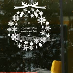 wholesale christmas shop window decals christmas window glass decorative stickers type a