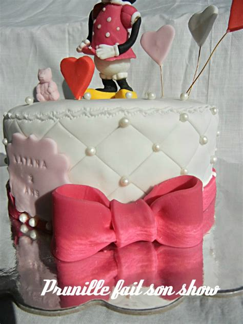 gateau minnie mouse sujet model 233 en p 226 te 224 sucre prunille fait show