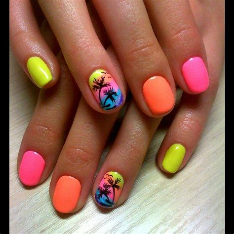 colorful nail 25 best ideas about bright summer nails on