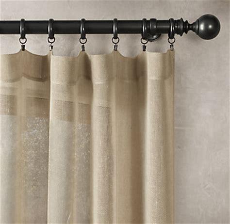 open weave sheer linen drapery rod pocket