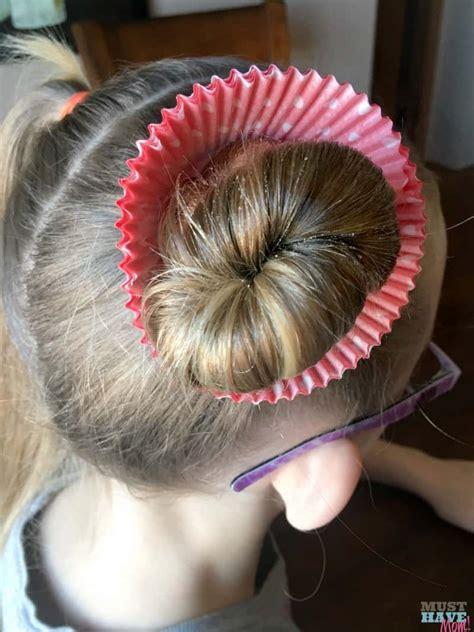 crazy hair day ideas girls cupcake hairdo   mom