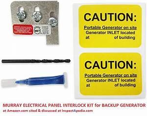 Backup Electrical Generator Interlock Kits Alternative To