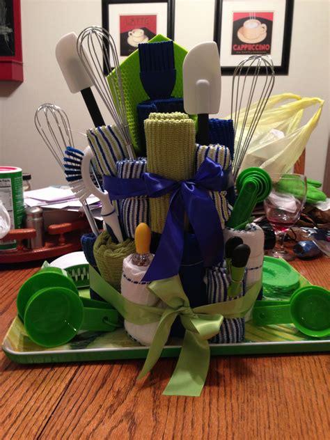 kitchen towel cake bridal shower gift kitchen gift