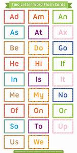 Printable two letter words flash cards for 2 letter words flash cards