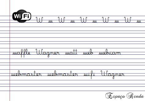 Caderno de caligrafia revisão escola educação.