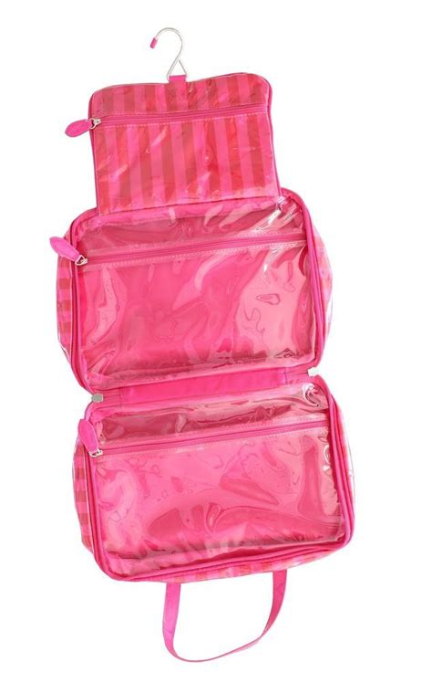 s secret pink travel hanger roll up organizer makeup bag bags cases and
