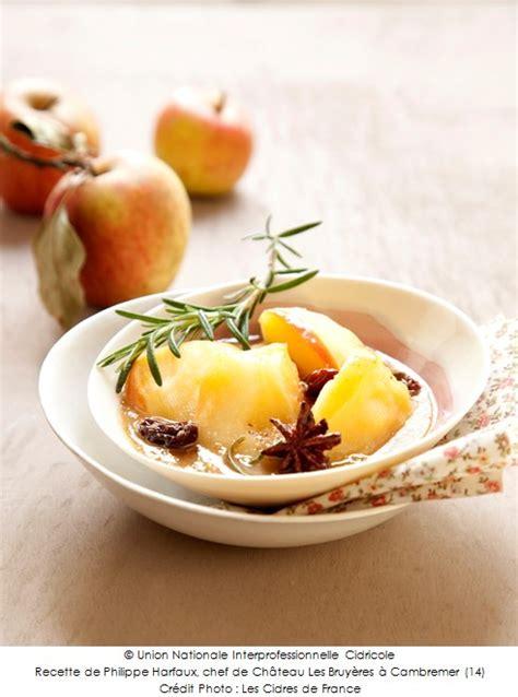cuisine au cidre pommes pochées au cidre a vos assiettes recettes de