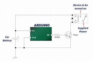 Tip122 Arduino Automotive Relay Schematic