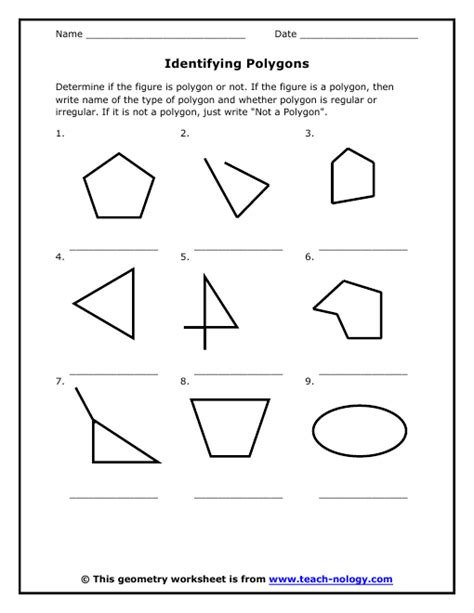 search results for polygons worksheet