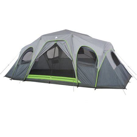 ozark trail 12 person instant cabin tent with screen room ozark trail 12 person 3 room hybrid instant cabin tent