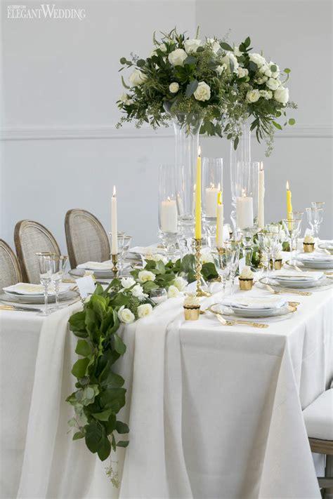 vintage green  gold wedding ideas elegantweddingca