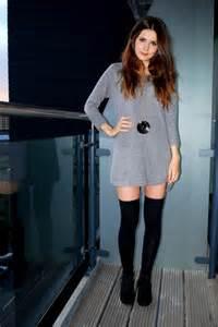 Dress with Knee High Socks