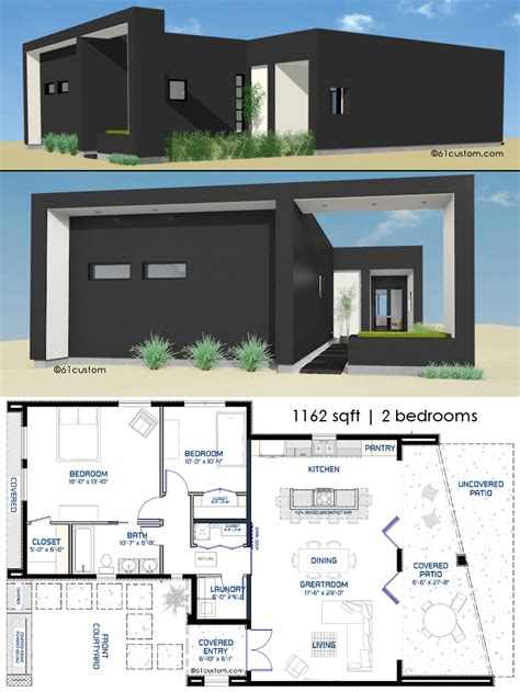 small front courtyard house plan custom modern house