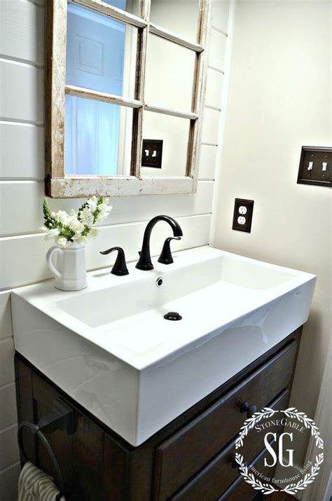 ideas  farmhouse bathroom sink  pinterest