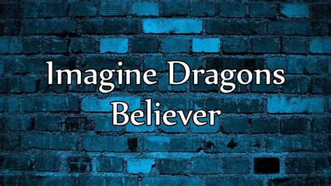 Believer Imagine Dragons Youtube