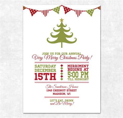 items similar  printable christmas invitation holiday