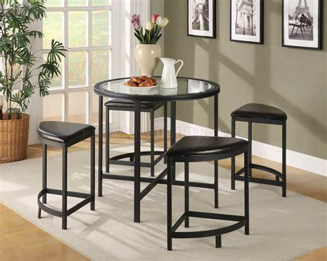 glass pub table set black metal base modern 5pc pub set w glass table top