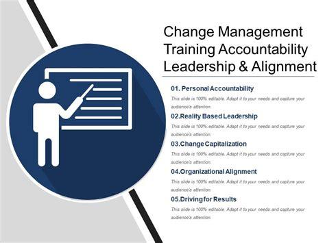 change management training accountability leadership