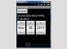 Android date picker example – Mkyongcom