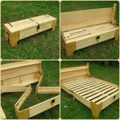 Bed Into Bench by How To Make A Diy Bench That Folds Into A Bed