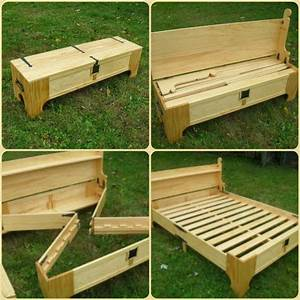 How to make a diy bench that folds into a bed perfect for Homemade furniture instructions