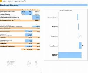 Stundenverrechnungssatz Berechnen : stundensatz und personalkosten rechner excel tabelle business ~ Themetempest.com Abrechnung
