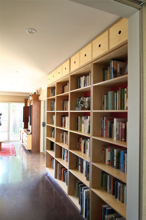 select custom joinery plywood bookshelves