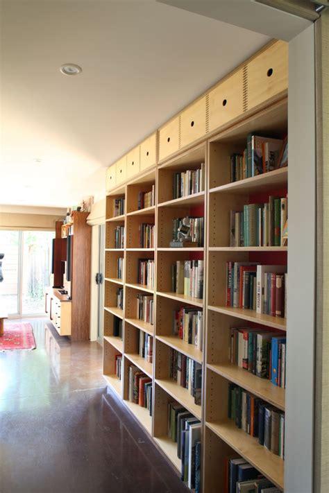 select custom joinery plywood bookshelves