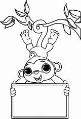 Coloring Monkey Sock Pages Zoo Valentine Monkeys Printable Socks Nativity Drawing Hop Simple Colouring Sheet Zookeeper Getcolorings Carton Egg Getdrawings sketch template