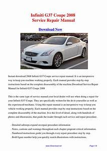 Infiniti G37 Coupe 2008 Repair Manual By Fu Juan
