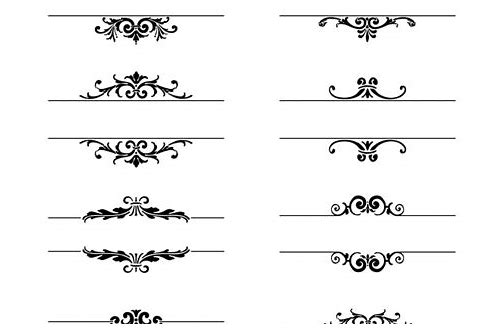 ornamental elements vector free download