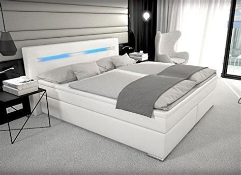 Designer Boxspring Bett Mit Led Beleuchtung 180x200 Cm