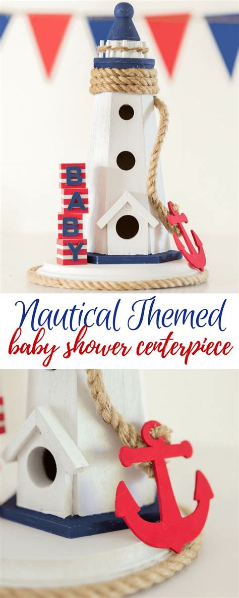 Nautical Baby Shower - nautical themed baby shower centerpiece by partyography on