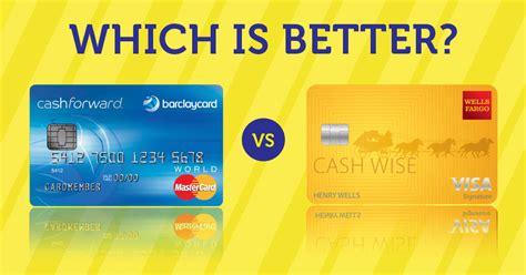 barclaycard cashforward world mastercard  wells fargo