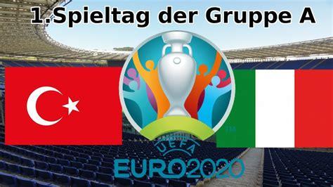 Juni 2021, mit dem eröffnungsspiel zwischen italien (dem europameister von 1968) und der türkei. EM 2020 Türkei : Italien Gruppenspieltag 1 - YouTube