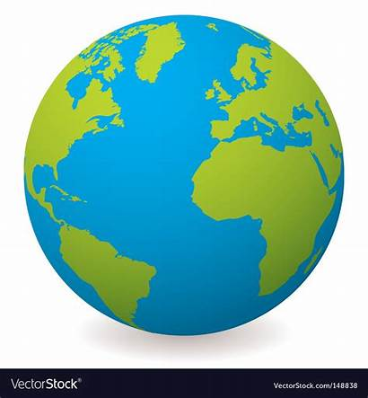 Globe Earth Vector Natural Royalty Vectors Vectorstock