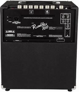 Fender Rumble U2122 100  V3   120v  Black  Silver