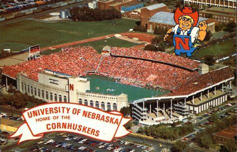 university  nebraska memorial stadium lincoln ne postcard