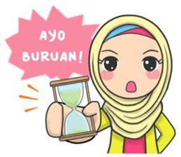 flower hijab daily talk stiker kreator stiker