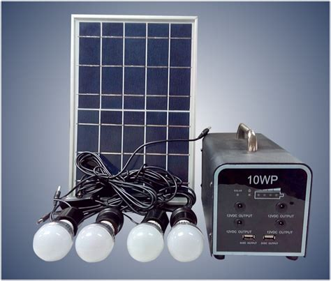 new home solar lighting system with 10w soar panel system