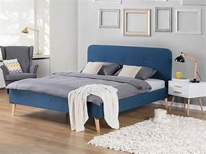 Bett Mit Lattenrost 180x200 : bett dunkelblau mit lattenrost doppelbett polsterbett bettgestell 180x200 cm ebay ~ Bigdaddyawards.com Haus und Dekorationen
