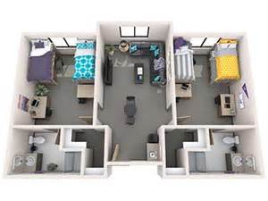 four bedroom house floor plans office of residence student housing grand