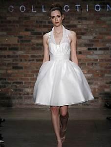 short wedding dress with shirt collar neckline With shirt wedding dress