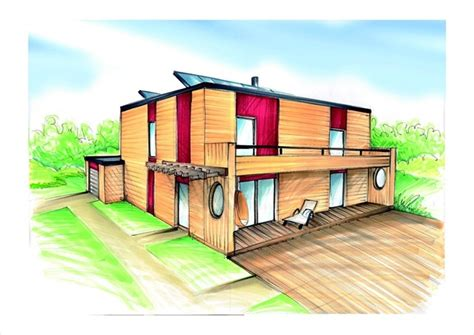 maison moderne dessin