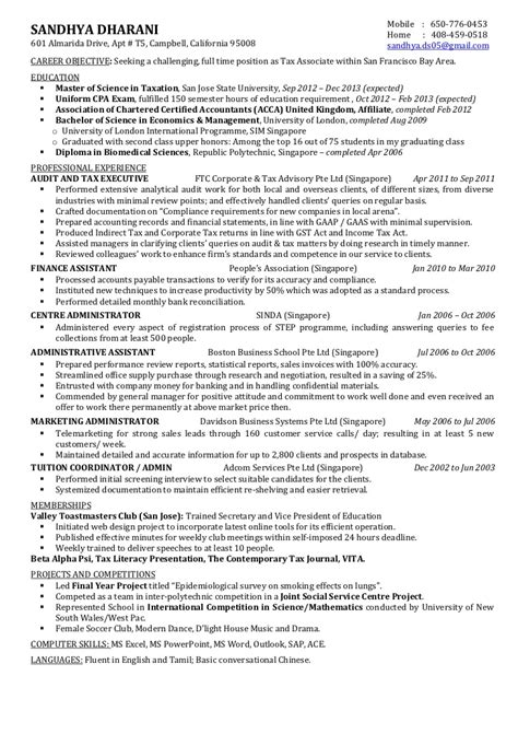 cpa candidate resume miltz accounting resume