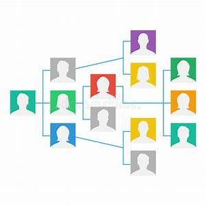Project Team Organization Chart Vector  Colleagues Working