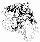 Iron Coloring Printable Ironman Avengers sketch template