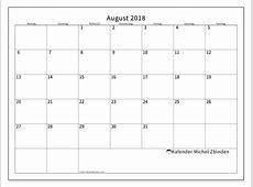 Kalender August 2018 53MS