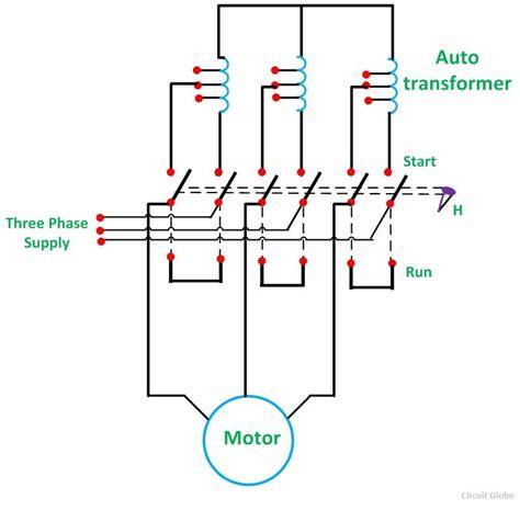 auto transformer starter  theory circuit globe