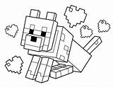 Minecraft Axe Coloring Pick sketch template